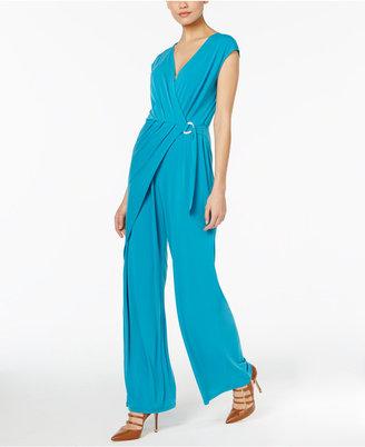 MICHAEL Michael Kors Wrap-Front Wide-Leg Jumpsuit $140 thestylecure.com