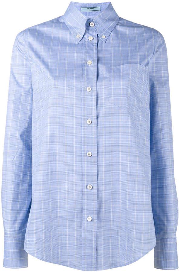 Prada button down checked shirt