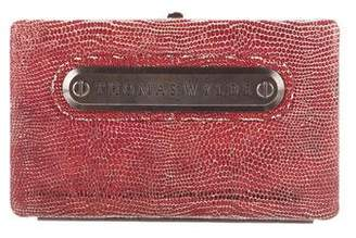 Thomas Wylde Embossed Patent Leather Clutch