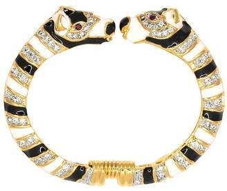 Kenneth Jay Lane Zebra Head Bracelet