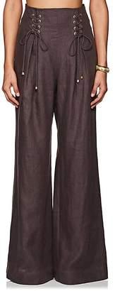Zimmermann Women's Linen Wide-Leg Pants