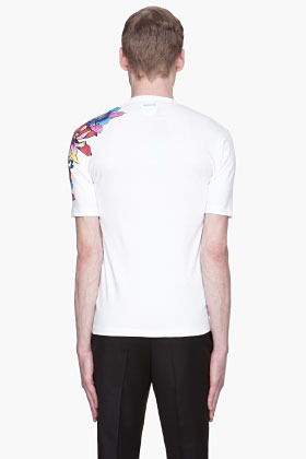 DSquared DSQUARED2 White Floral Print T-shirt