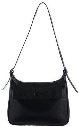 Longchamp Textured Leather Shoulder Bag