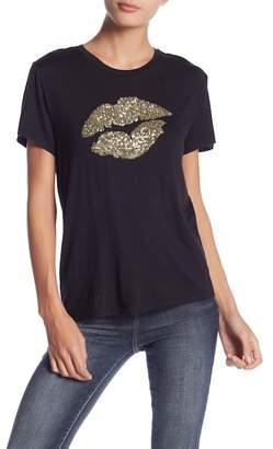 Romeo & Juliet Couture Sequin Lip Print T-Shirt