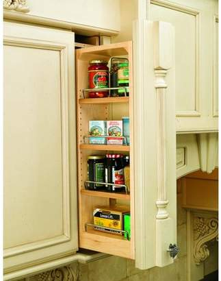 "Rev-A-Shelf Base & Wall Cabinet Fillers and Organizers, 6""W x 11-1/8""D x 30""H, Zinc/100 lb, 4, Wood"