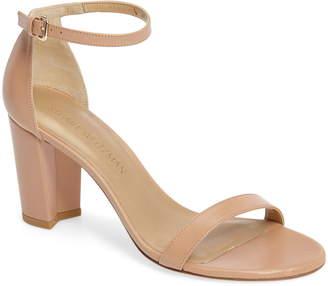 a6e4130ce12 Stuart Weitzman Beige Block Heel Women s Sandals - ShopStyle