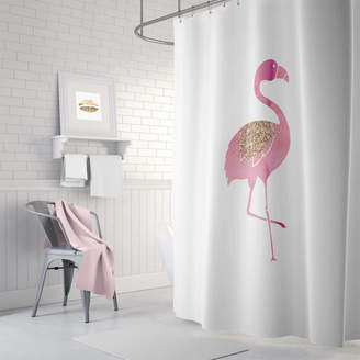 Ruby and B Flamingo Shower Curtain