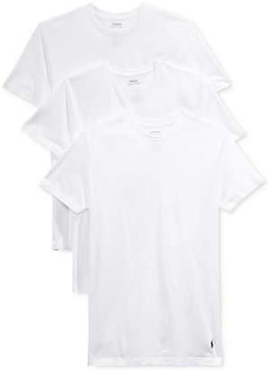 Polo Ralph Lauren Men's 5 Pack Crew-Neck Undershirts
