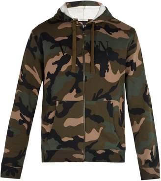 Valentino Camouflage-print hooded sweatshirt