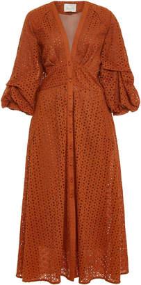 Johanna Ortiz Magical Discipline Broderie Anglaise Cotton Midi Dress