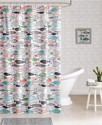 Jla Home HipStyle Sardinia Printed Cotton Shower Curtain Bedding