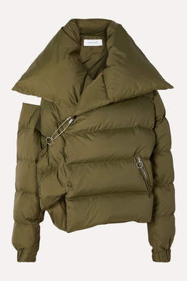 Marques Almeida Marques' Almeida - Oversized Asymmetric Quilted Shell Down Jacket - Green