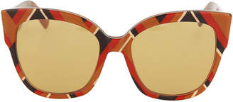 Gucci Oversized Printed Acetate Cat-Eye Sunglasses