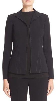 Women's Lafayette 148 New York 'Iconic Collection - Kat' Sleek Tech Cloth Jacket $648 thestylecure.com