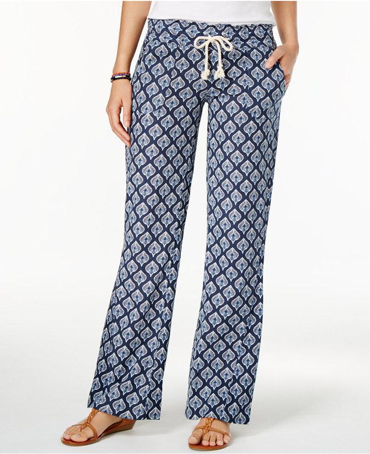 Roxy Juniors' Oceanside Printed Soft Pants