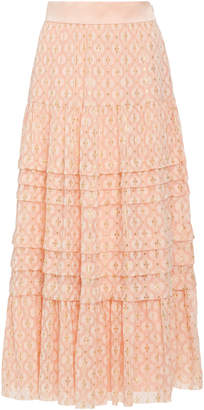Temperley London Suki Tiered Chiffon Skirt