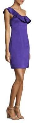 Trina Turk One-Shoulder Ruffled Dress