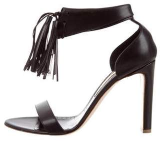 Rupert Sanderson Ankle Strap Leather Sandals