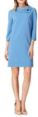 Tahari Arthur S. Levine Roll-Neck Crepe Sheath Dress