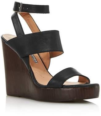 Charles David Women's Turk 2 Leather Wedge Sandals