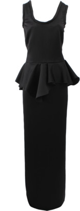 Viktor & Rolf Scoop Neck Peplum Gown