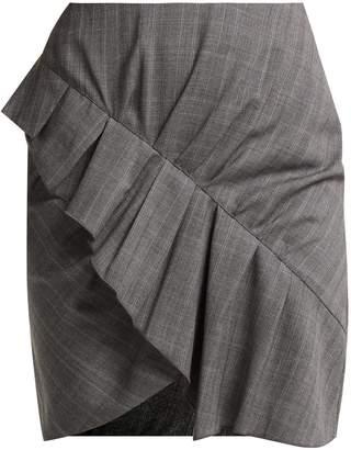 Etoile Isabel Marant Nel ruffled wool mini skirt