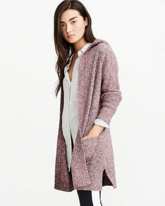 Abercrombie & Fitch Hooded Open Front Cardigan