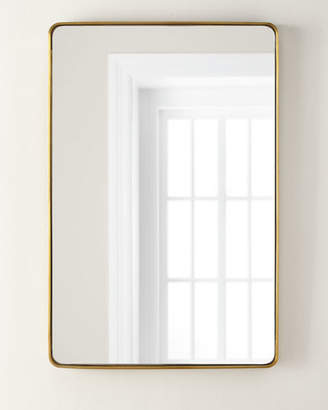 Brass Stainless Steel Curved Rectangle Mirror