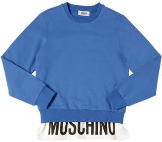 Moschino Logo Printed Cotton Sweatshirt
