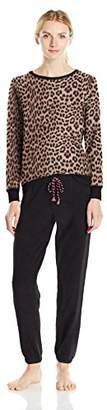 Betsey Johnson Women's Microfleece Slouchy Pj Set
