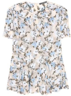 Alexander McQueen Silk-blend top