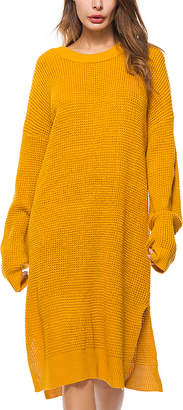 Yellow Sweater Dress - Women