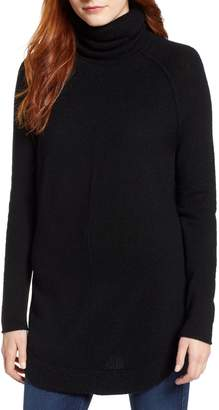 Caslon Side-Button Turtleneck Tunic Top