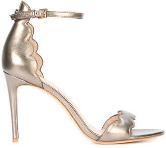 Rachel Zoe scalloped open toe sandals