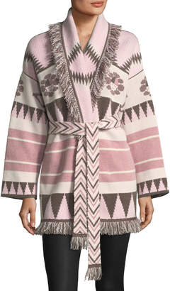 Icon Eyewear Alanui Icon Fringed Cashmere Wrap Sweater