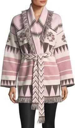 Icon Eyewear Alanui Icon Fringed Cashmere Wrap Sweater