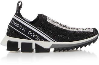 b395c51e73a2 Dolce   Gabbana Bejeweled Logo Cotton Sneaker
