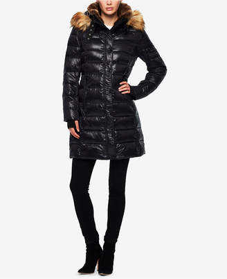 S13 Uptown Faux-Fur-Trim Hooded Puffer
