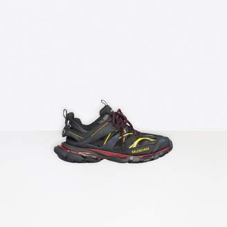 Balenciaga Track in burgundy and black mesh and nylon