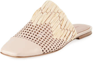 Sigerson Morrison Gallia Square-Toe Perforated Mule