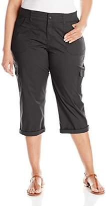 Lee Women's Plus Size Relaxed-fit Austyn Knit Waist Capri Pant
