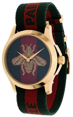 Gucci striped bee watch
