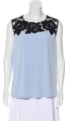Karl Lagerfeld Lace-Accented Sleeveless Top