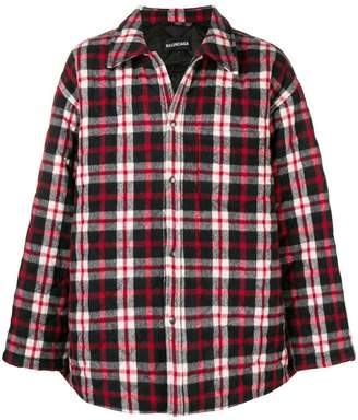 Balenciaga plaid quilted shirt