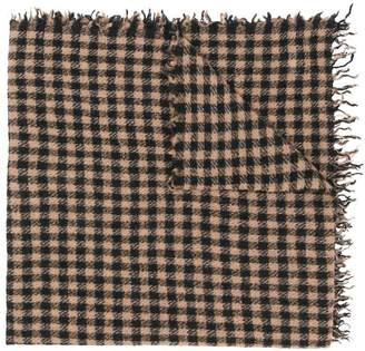 Faliero Sarti Paolo check print scarf