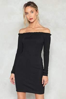 Nasty Gal Body Shop Off-the-Shoulder Dress