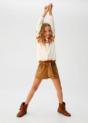 MANGO Bowed high-waist shorts