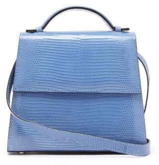 Hunting Season Top Handle Small Lizard Skin Bag - Womens - Blue