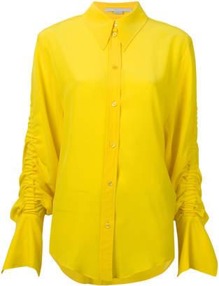 Stella McCartney gathered sleeve shirt