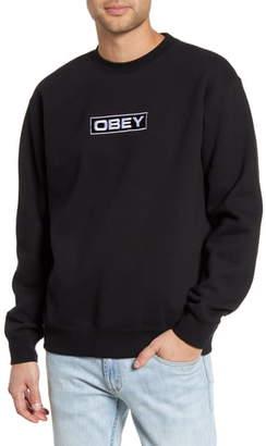 Obey Enigma Embroidered Crewneck Sweatshirt